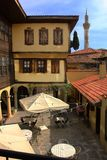 Amazing old houses and mosque from Kula, Turkey. Amazing old houses mosque kula turkey ancienr ancient history wooden rustic tourism visit original stock photography