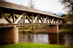 Amazing old school bridge Royalty Free Stock Photography
