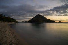 Amazing Padar beach scenery at sunrise time Stock Photos