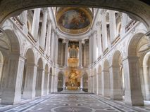The amazing palace of Versailles, interior gallery. stock images
