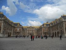 The amazing palace of Versailles, inner courtyard. royalty free stock photos