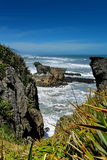 Amazing Pancake Rocks formations at Paparoa National Park in New Zealand. Amazing Pancake Rocks formations at Paparoa National Park in West Coast, New Zealand royalty free stock photos