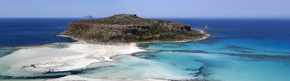 Amazing paniramic  view of Balos bay. Stock Photo