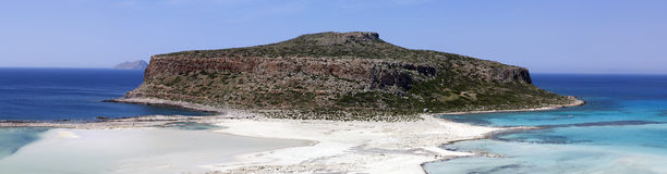 Amazing paniramic  view of Balos bay. Stock Images