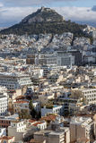 Amazing panorama from Acropolis to city of Athens, Greece Stock Photography