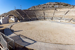 Amazing panorama of Ancient amphitheater in the archeological area of Philippi, Greece Stock Photography
