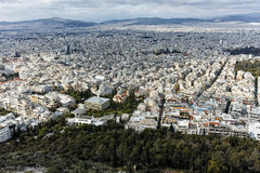 Amazing panorama of the city of Athens from Lycabettus hill Royalty Free Stock Image