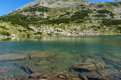 Amazing Panorama of Dalgoto The Long lake, Pirin Mountain Royalty Free Stock Image