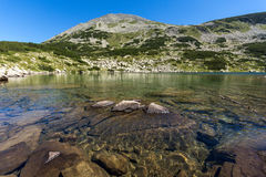 Amazing Panorama of Dalgoto The Long lake, Pirin Mountain Stock Image