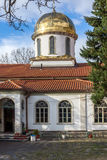 Amazing Panorama and Golden Dome of The Fish Church, Bulgaria. Amazing Panorama and Golden Dome of The Fish Church, St. Mary the Annunciation, Asenovgrad royalty free stock photography