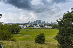 Amazing Panorama from Greenwich, London, England Royalty Free Stock Photography