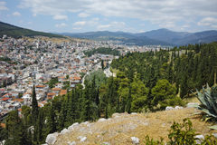 Amazing panorama of Lamia City, Greece Royalty Free Stock Photo