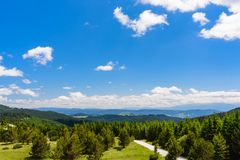 Amazing panorama landscape of mountains and sky with beautiful clouds-travel and natural background. Amazing panorama landscape of mountains and sky with Royalty Free Stock Images