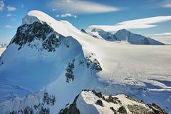 Amazing panorama from matterhorn glacier paradise. Alps, Switzerland Stock Photo