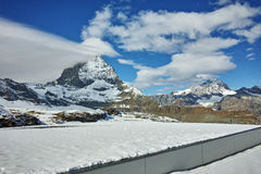 Amazing panorama from matterhorn glacier paradise, Alps, Stock Photos