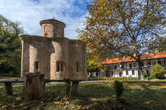 Amazing Panorama of medieval  Zemen Monastery, Bulgaria Stock Photos