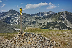 Amazing panorama near Vihren Peak, Pirin Mountain Royalty Free Stock Image