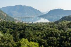 Amazing panorama of Nidri Bay, Lefkada, Greece Royalty Free Stock Images
