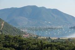 Amazing panorama of Nidri Bay, Lefkada, Greece Royalty Free Stock Image