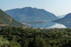Amazing panorama of Nidri Bay, Lefkada, Greece Stock Photo