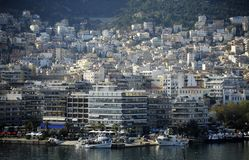 Seaside city of Kavala in Greece royalty free stock image