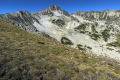 Amazing panorama of Polezhan peak, Pirin Mountain Royalty Free Stock Image