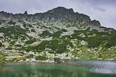 Amazing Panorama of Samodivski Lakes and Dzhangal Peak Stock Photography