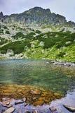 Amazing Panorama of Samodivski Lakes and Dzhangal Peak Stock Photos