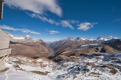Amazing panorama of Swiss Alps and Zermatt Resort, Canton of Valais Royalty Free Stock Photo