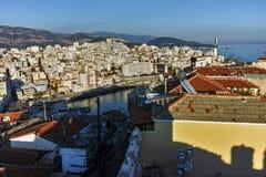 Amazing Panorama to Kavala, East Macedonia and Thrace Stock Photography