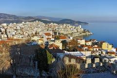 Amazing Panorama to Kavala, East Macedonia and Thrace Stock Photo
