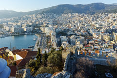 Amazing Panorama to Kavala, East Macedonia and Thrace Royalty Free Stock Image