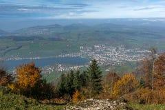 Amazing Panorama to Lake Luzerne, Alps Royalty Free Stock Image