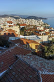 Amazing Panorama to old town of Kavala, East Macedonia and Thrace Royalty Free Stock Photo