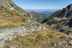Amazing panorama to The valley of Malyovishka river, Rila Mountain Royalty Free Stock Photo
