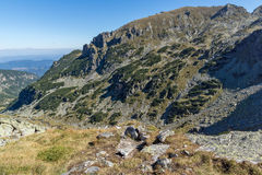Amazing panorama to The valley of Malyovishka river, Rila Mountain Royalty Free Stock Image