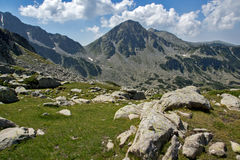 Amazing panorama of The Tooth peaks in Pirin Mountain Stock Photography