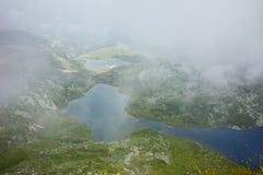 Amazing panorama of The Twin lake, The Seven Rila Lakes Stock Image