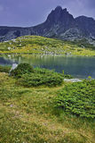 Amazing panorama of The Twin lake, The Seven Rila Lakes Stock Images