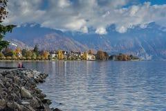 Amazing panorama of Vevey, Switzerland Royalty Free Stock Photos