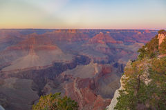 Amazing panorama view of Grand Canyon next to Hopi Point. Amazing panorama view of the Grand Canyon next to Hopi Point Royalty Free Stock Photography