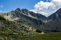 Amazing panorama of the Yalovarnika peaks in Pirin Mountain Royalty Free Stock Photos