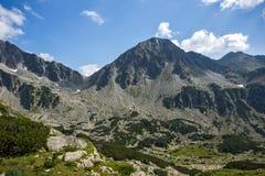 Amazing panorama of Yalovarnika peaks in Pirin Mountain Royalty Free Stock Image