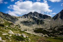 Amazing panorama of the Yalovarnika peaks in Pirin Mountain Stock Image