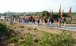 Amazing panoramic,Kate festival, Cham traditional culture Royalty Free Stock Image