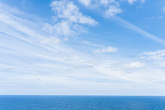 Amazing panoramic landscape with endless sea Royalty Free Stock Images