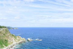 Amazing panoramic landscape with endless sea Stock Images