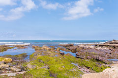 Amazing panoramic landscape with endless sea Stock Photography
