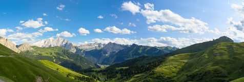 Amazing panoramic landscape at Italian South Tyrol. Royalty Free Stock Photos