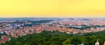 Amazing panoramic landscape of Prague Stock Image